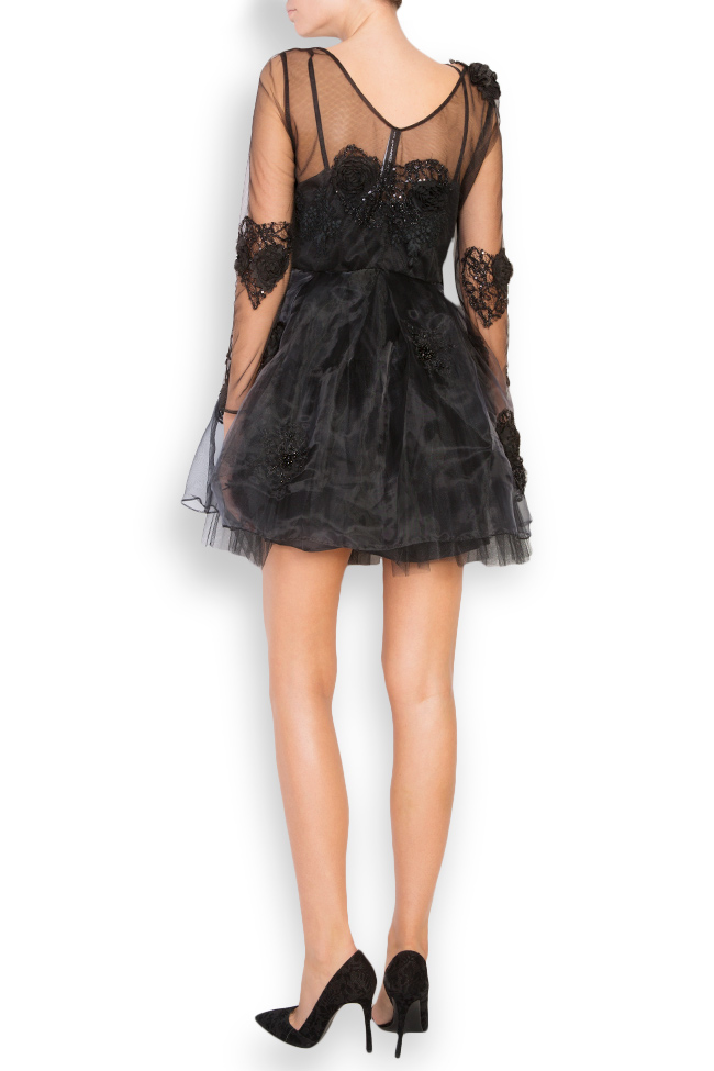 Embroidered taffeta tulle mini dress Elena Perseil image 2