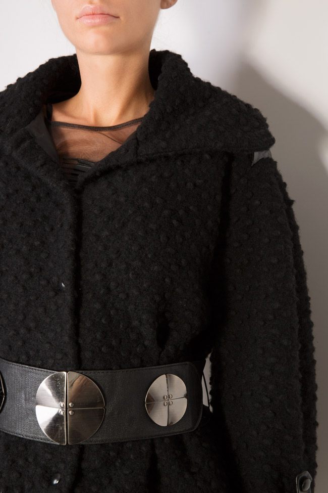 Belted wool coat Elena Perseil image 4