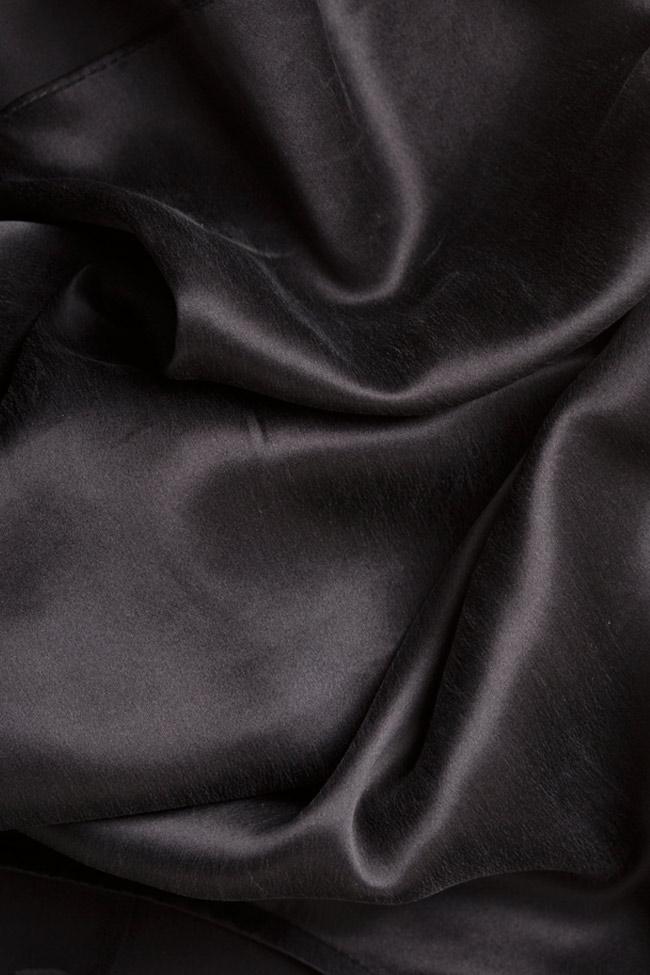 Embellished silk satin top Elena Perseil image 4