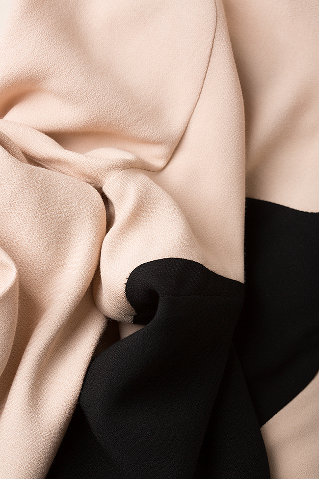 Rochie bicolora din viscoza Lena Criveanu imagine 4