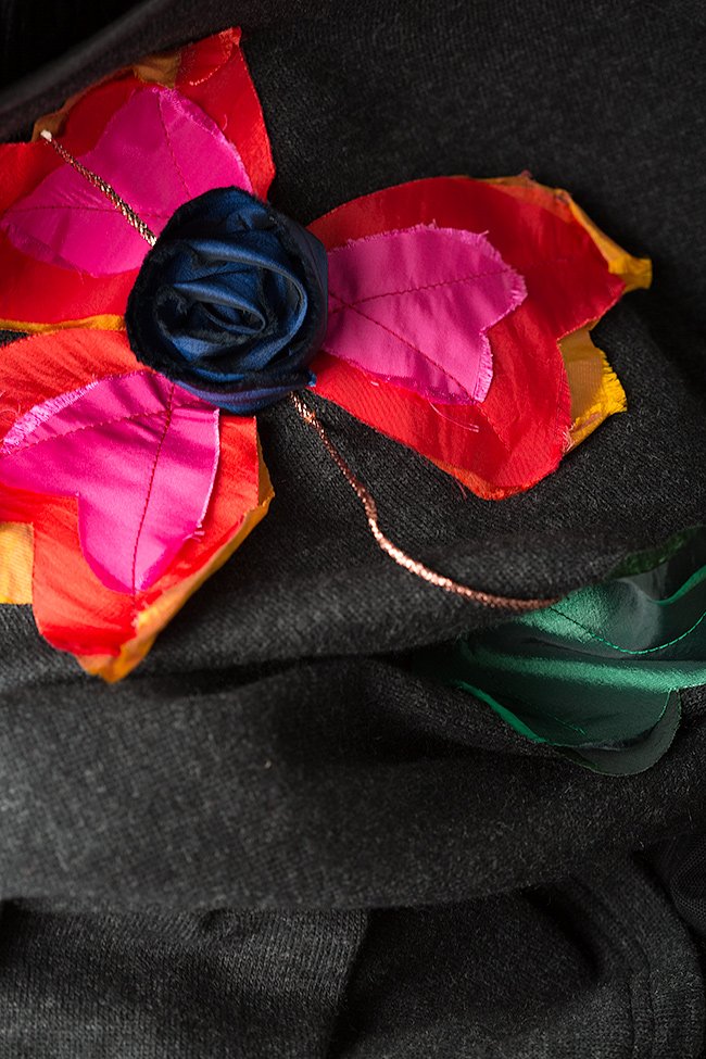 Rochie din lana si maneci din tul Marius Musat imagine 4