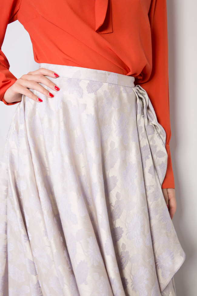 Asymmetric ruffled brocade skirt DALB by Mihaela Dulgheru image 3