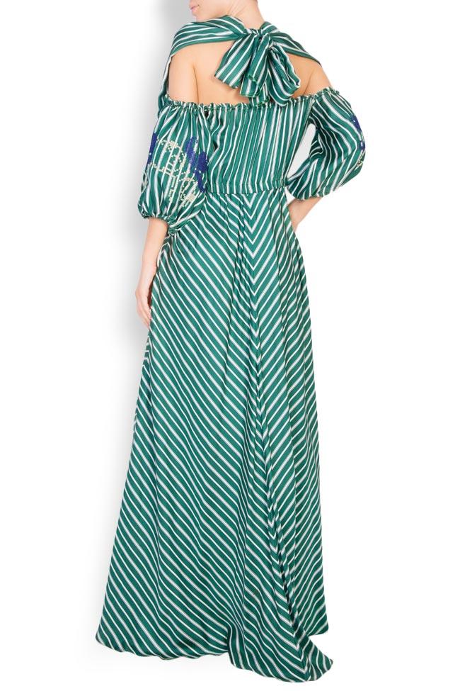Robe en soie avec manches brodées avec fil de soie Maressia image 2