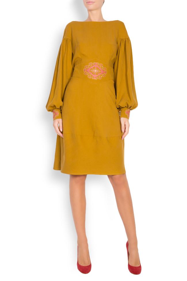 Embroidered cotton midi dress Maressia image 0