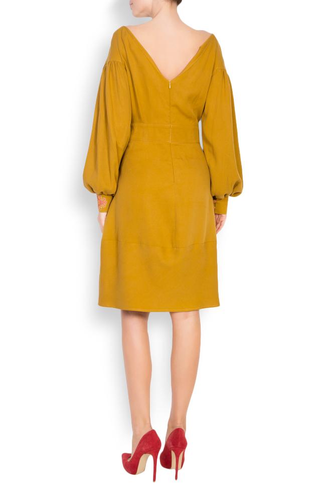 Embroidered cotton midi dress Maressia image 2