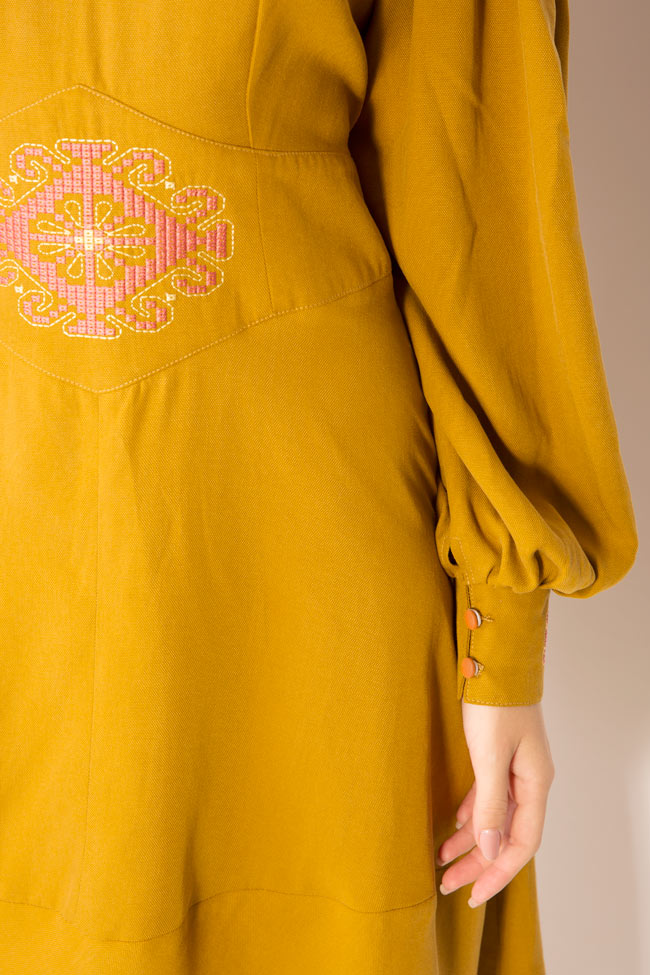 Embroidered cotton midi dress Maressia image 3