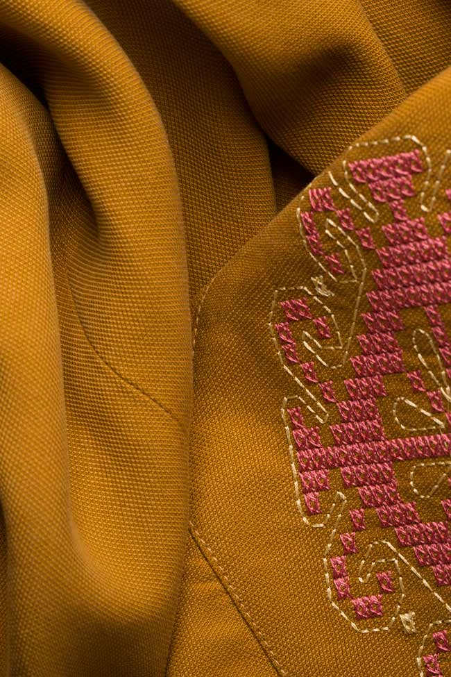 Embroidered cotton midi dress Maressia image 4