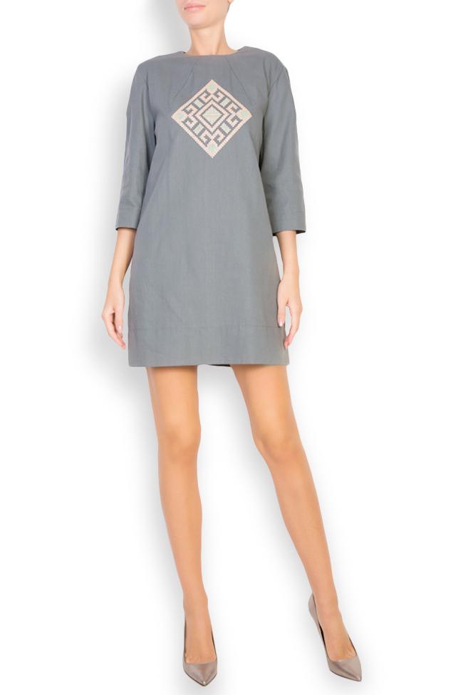 Silk embroidered cotton mini dress Maressia image 0