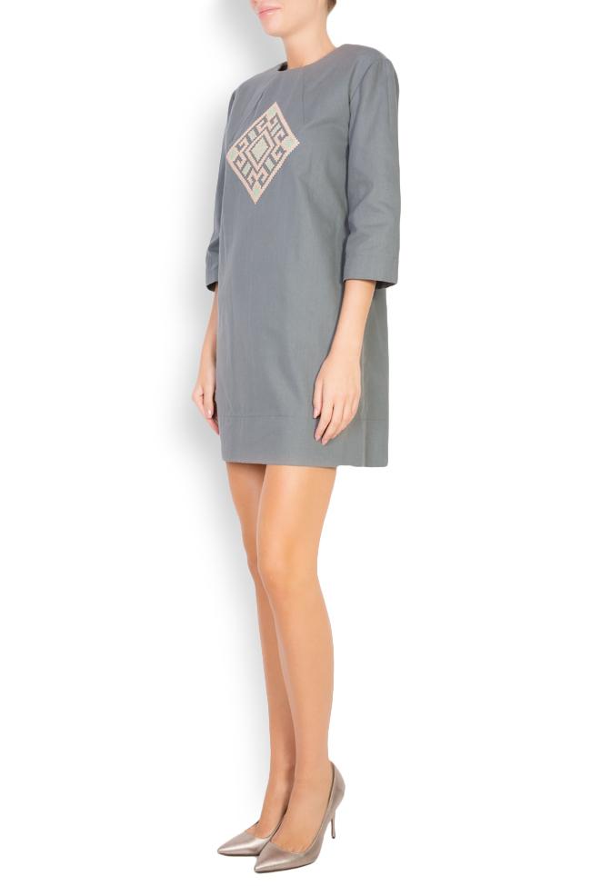 Silk embroidered cotton mini dress Maressia image 1