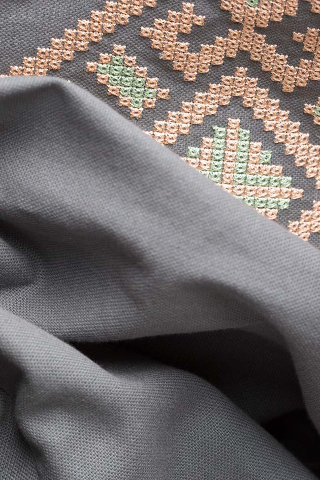 Silk embroidered cotton mini dress Maressia image 4
