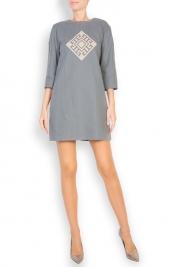 Maressia Silk embroidered cotton mini dress