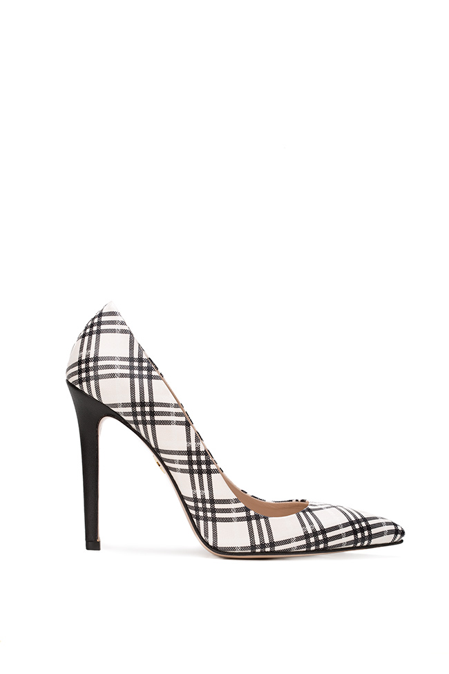 Alice90 checked leather pumps Ginissima image 0