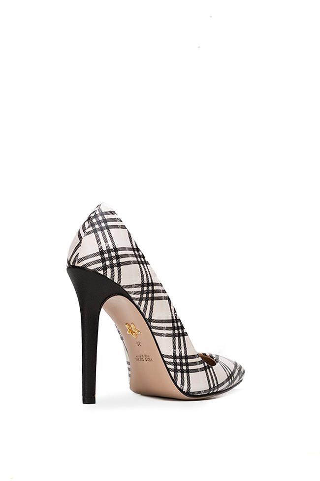 Pantofi din piele cu imprimeu Alice90 Ginissima imagine 1