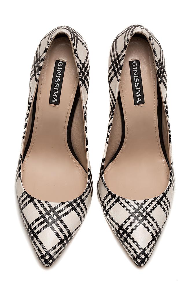 Pantofi din piele cu imprimeu Alice90 Ginissima imagine 2