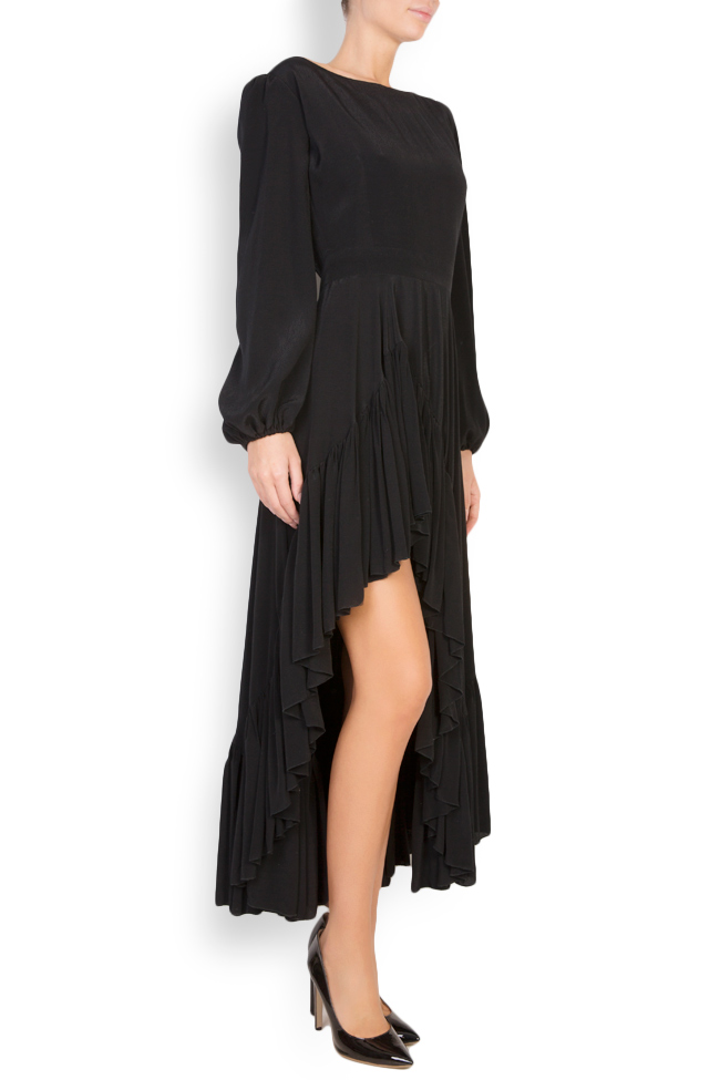 Asymmetric crepe midi dress Cloche image 1