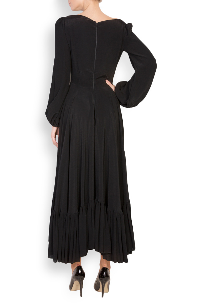 Asymmetric crepe midi dress Cloche image 2