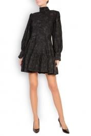 Cloche Cotton-blend brocade mini dress