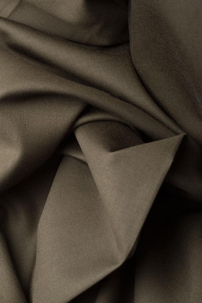 Belted wool-blend wrap dress Cloche image 4