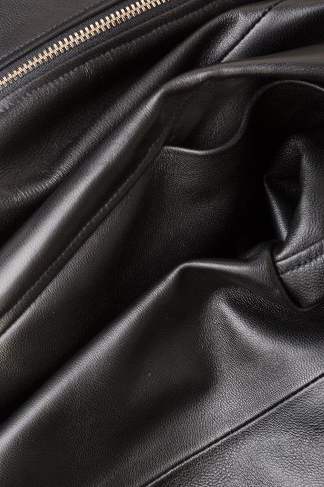 Asymmetric leather mini dress LUWA image 4