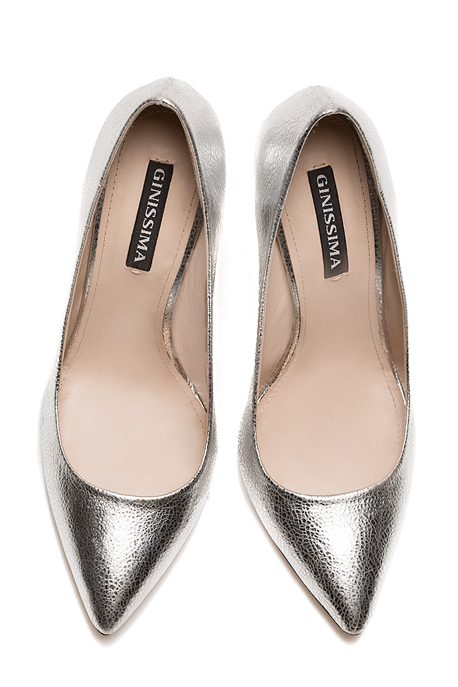 Alice90 metallic leather pumps Ginissima image 2