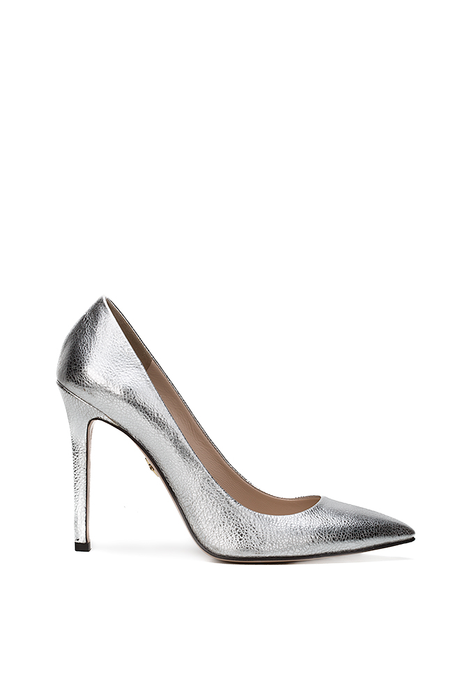 Alice90 metallic leather pumps Ginissima image 0