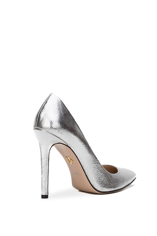 Alice90 metallic leather pumps Ginissima image 1