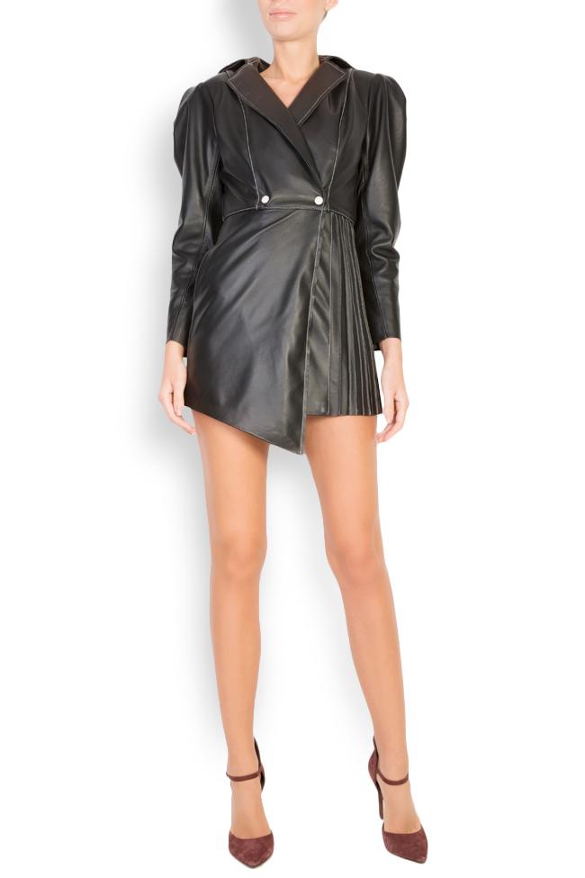 Asymmetric leather blazer dress LUWA image 3