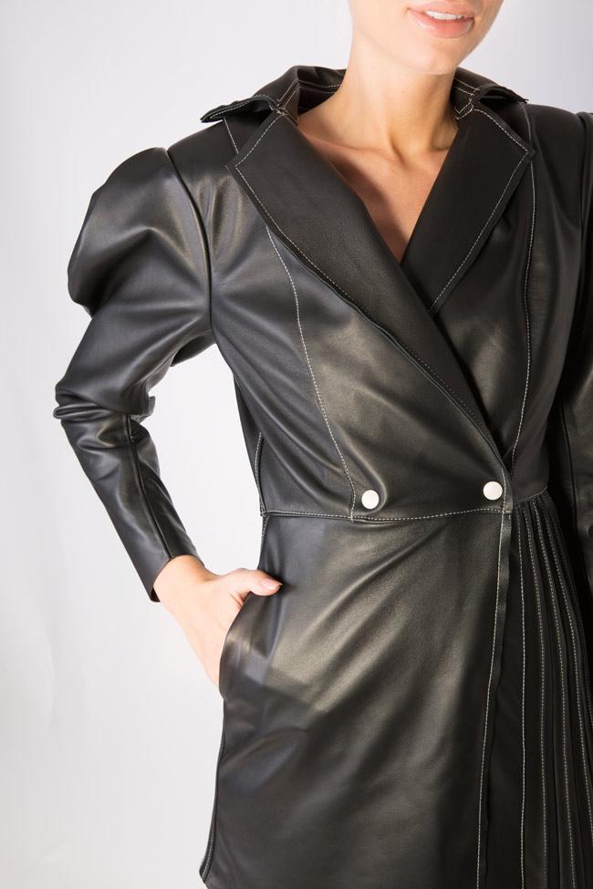 Asymmetric leather blazer dress LUWA image 4