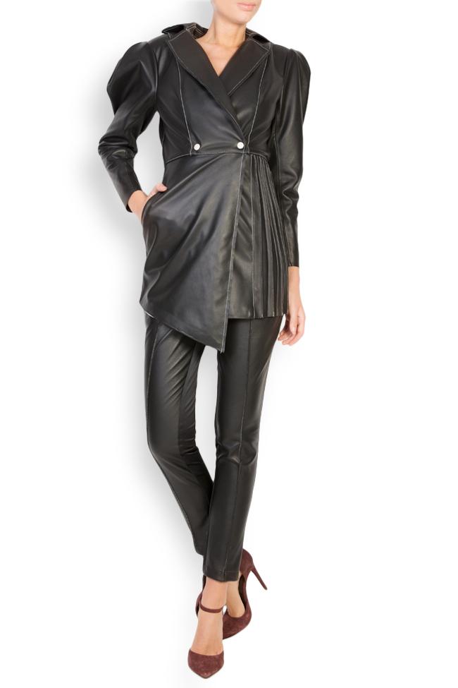 Asymmetric leather blazer dress LUWA image 0