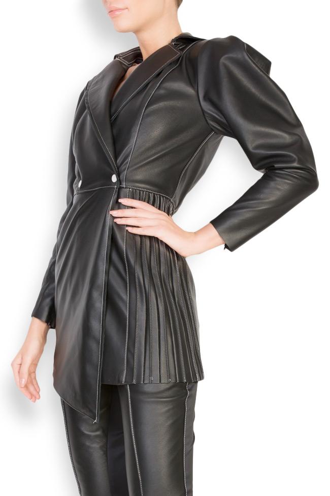Asymmetric leather blazer dress LUWA image 1