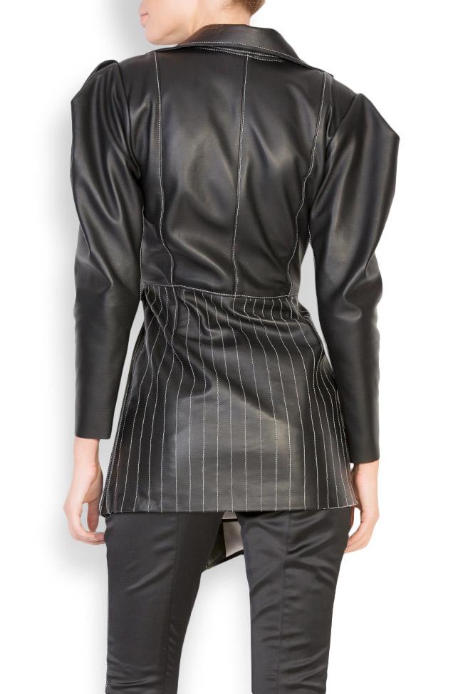 Asymmetric leather blazer dress LUWA image 2