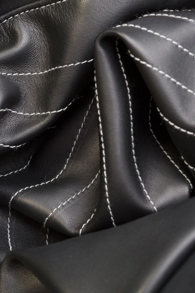Asymmetric leather blazer dress LUWA image 5