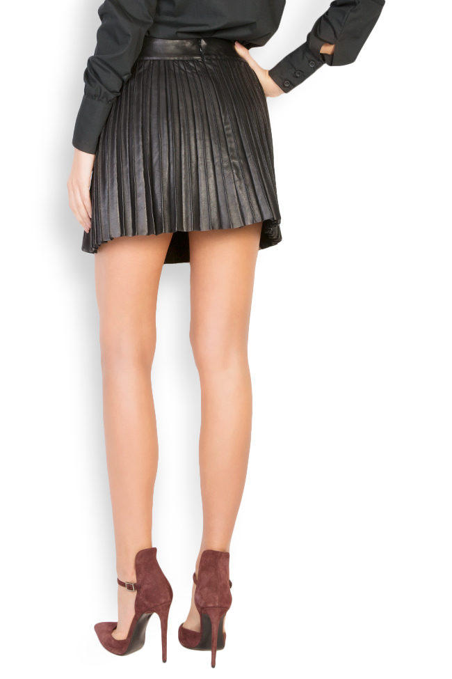 Pleated leather skirt LUWA image 2