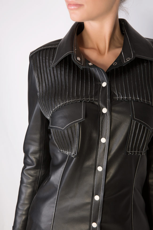 Leather shirt LUWA image 3