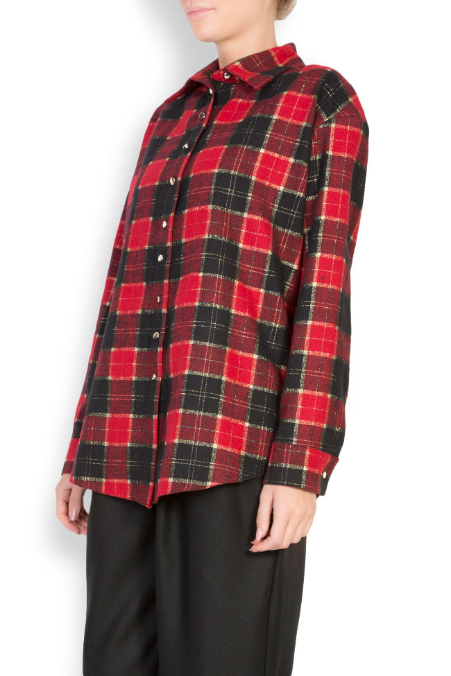 Checked wool shirt Cloche image 1