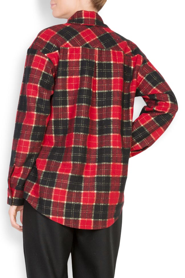 Checked wool shirt Cloche image 2
