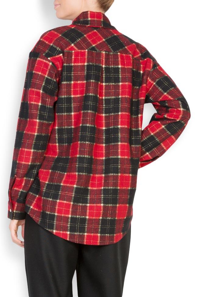 Chemise en laine à carreaux Cloche image 2