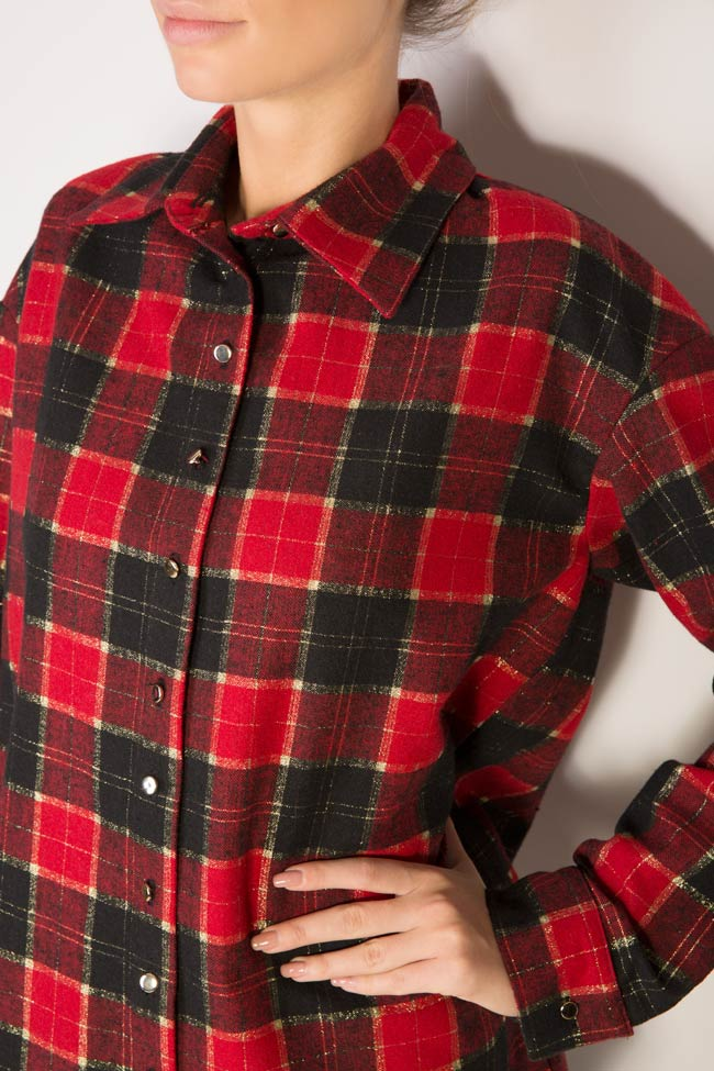 Checked wool shirt Cloche image 3