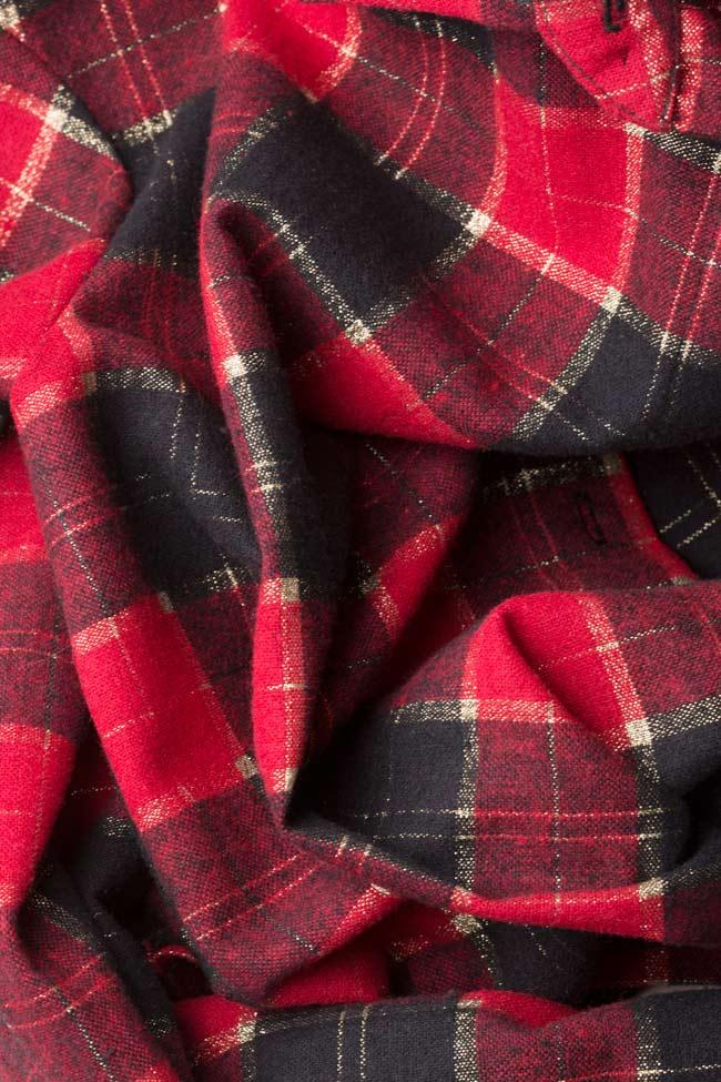 Chemise en laine à carreaux Cloche image 4