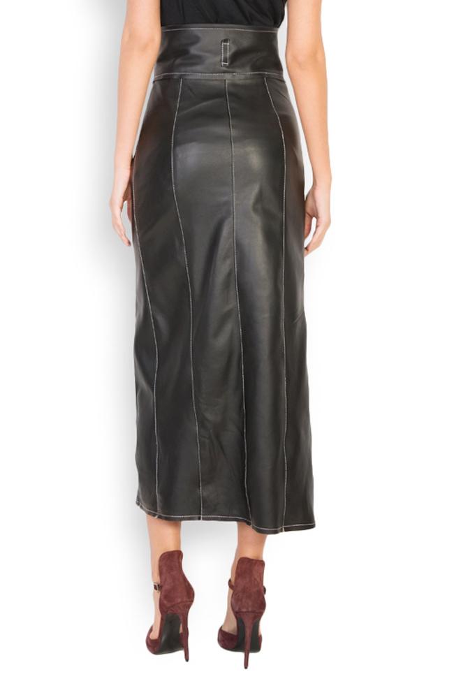 Asymmetric leather skirt LUWA image 2