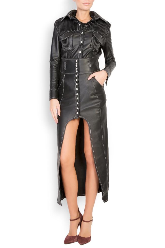 Asymmetric leather skirt LUWA image 0