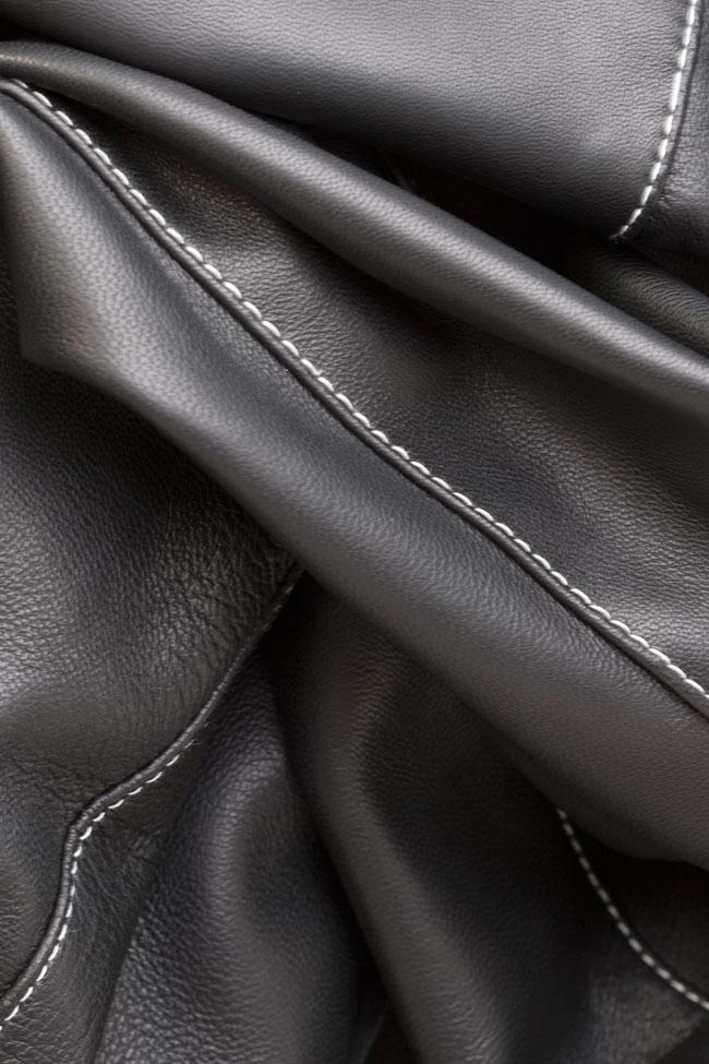 Asymmetric leather skirt LUWA image 4
