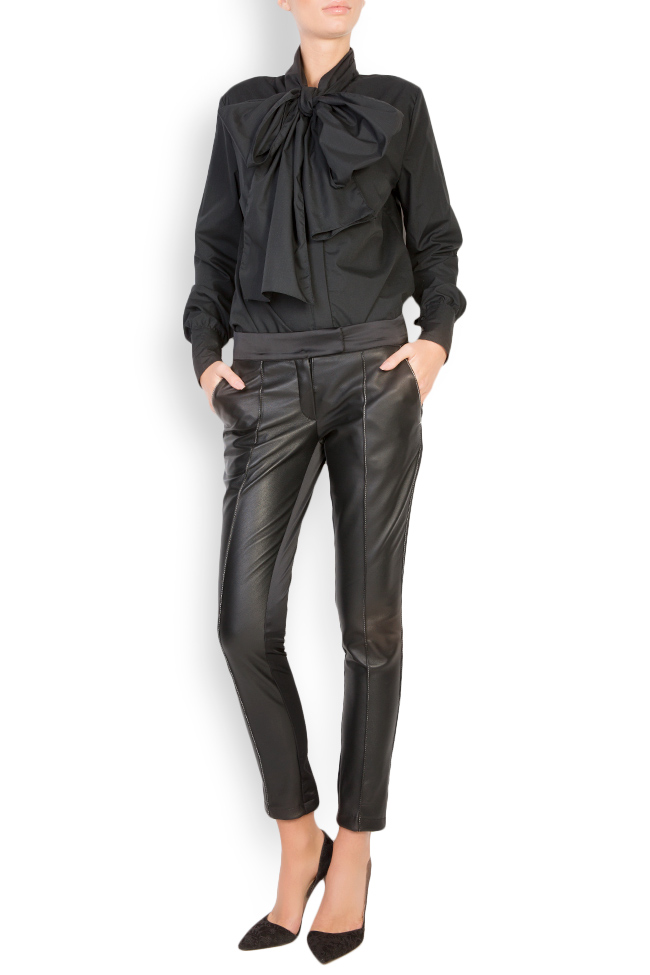 Silk-taffeta leather pants LUWA image 0