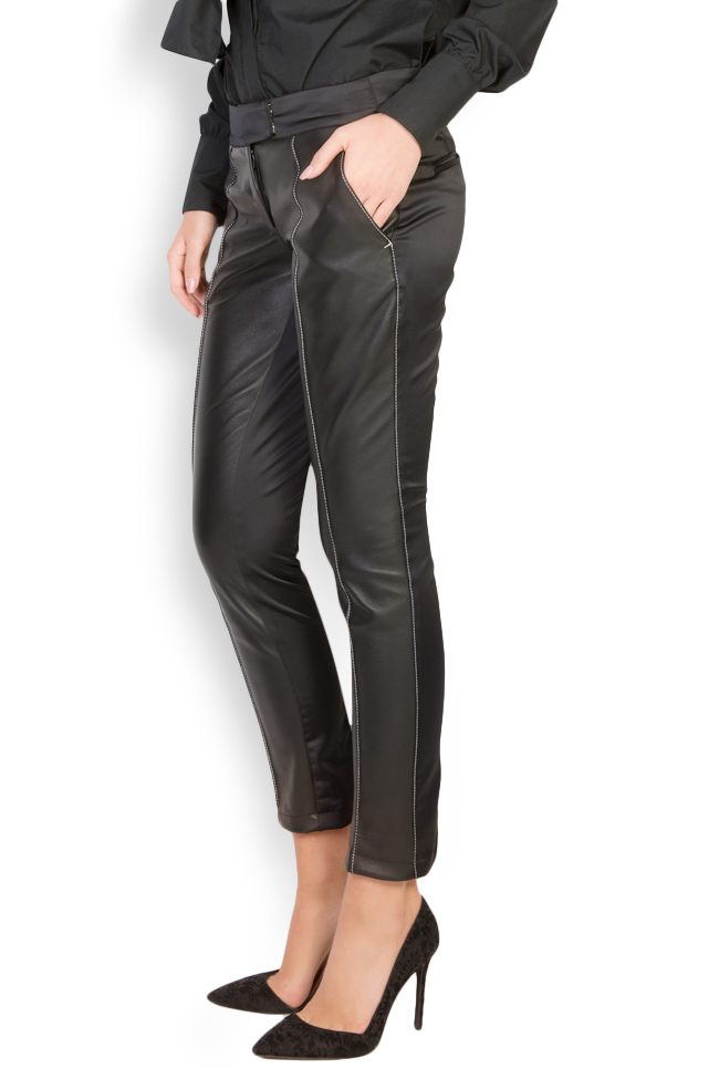 Silk-taffeta leather pants LUWA image 1