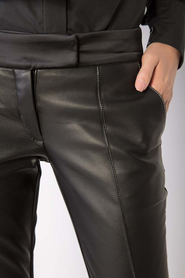 Silk-taffeta leather pants LUWA image 3