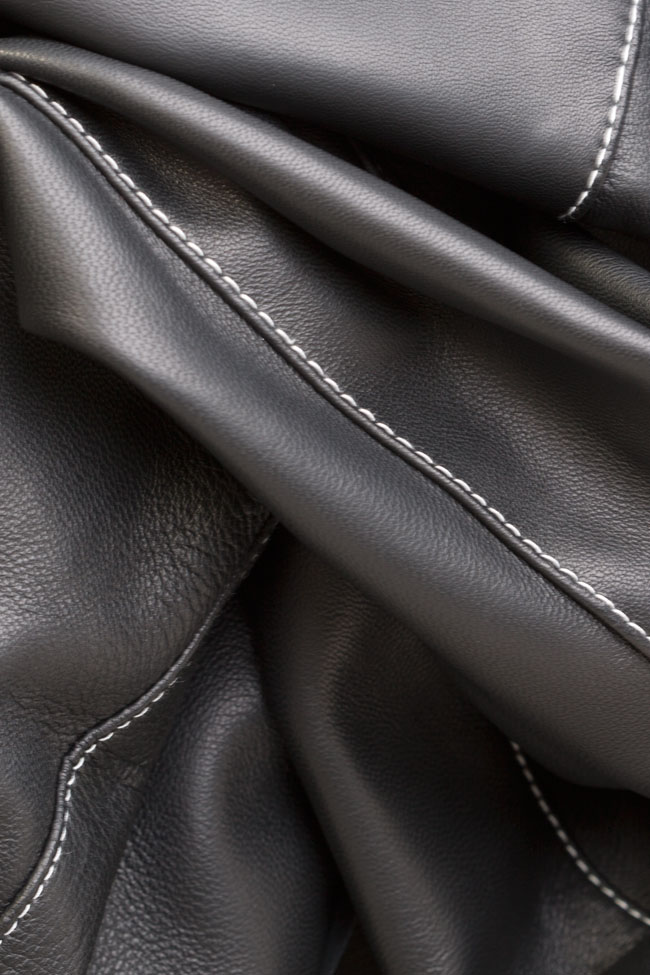 Silk-taffeta leather pants LUWA image 4