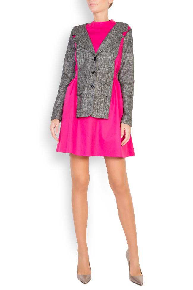Robe bicolore en popeline de coton Lucy Framboise image 0