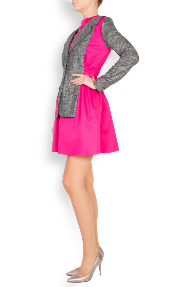 Robe bicolore en popeline de coton Lucy Framboise image 1