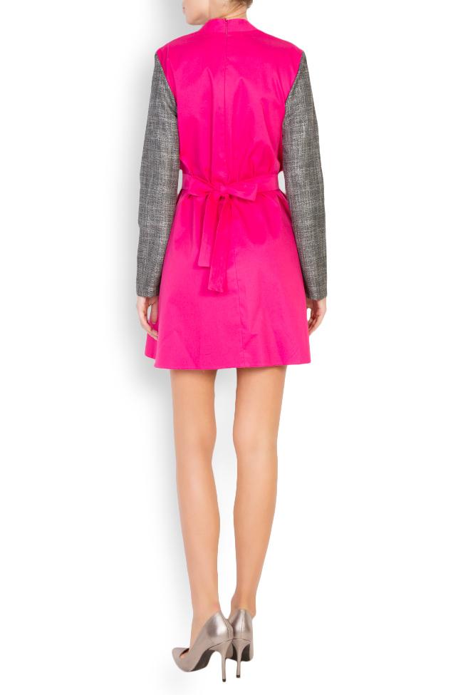 Robe bicolore en popeline de coton Lucy Framboise image 2