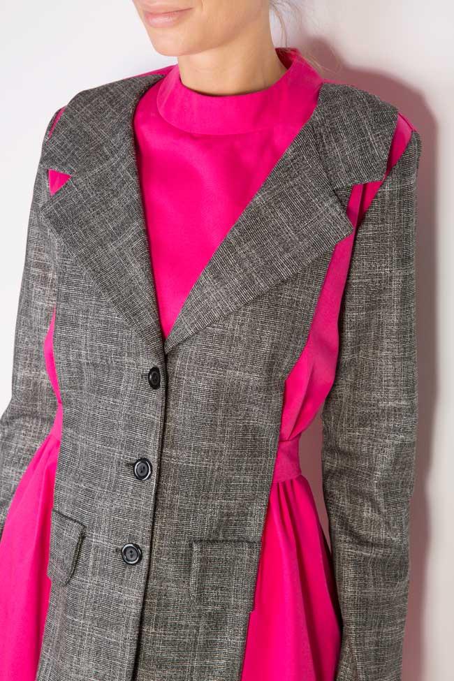 Robe bicolore en popeline de coton Lucy Framboise image 3